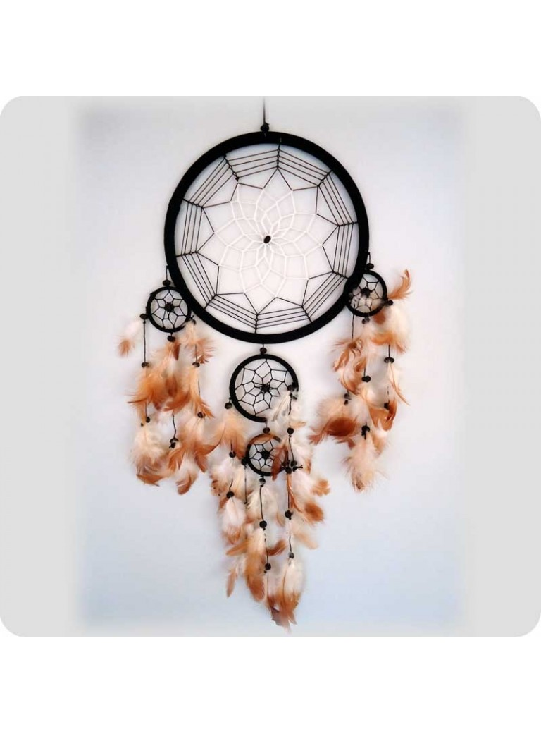 Dreamcatcher 22 cm black/white center