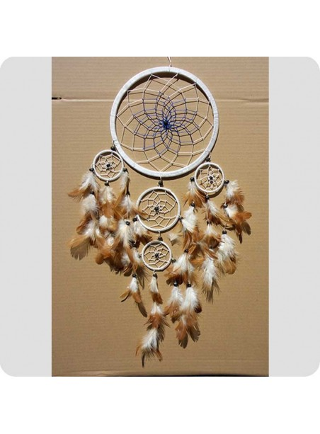 Dreamcatcher 22 cm white/blue center