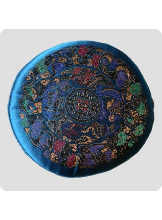 Flat cushion for singing bowls Mandala turquoise