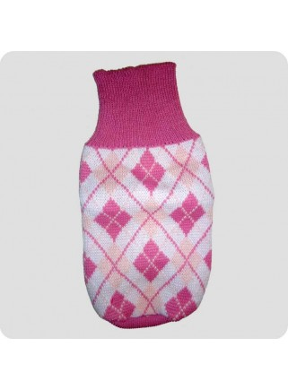 Sweater pink checquered L