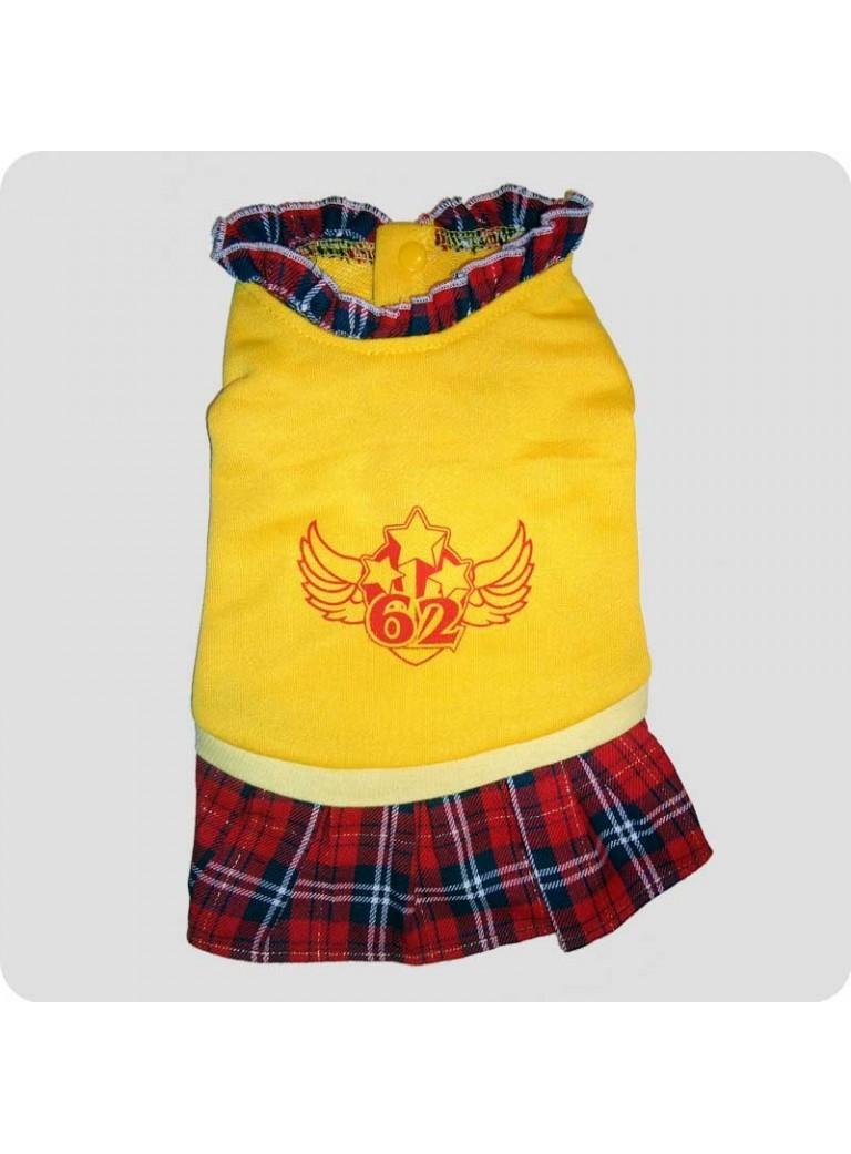 Gul kjole skotsk stil