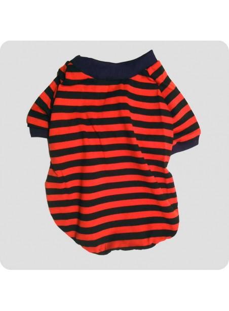 Red/black striped t-shirt