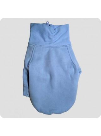 Højhalset sweatshirt lyseblå str. L
