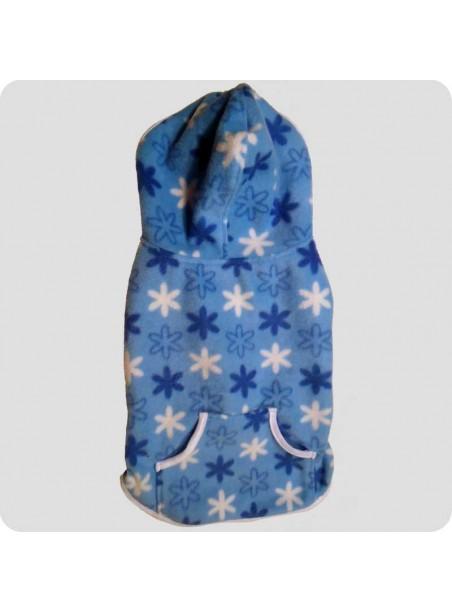 Fleece dækken m/hætte blå str. XL