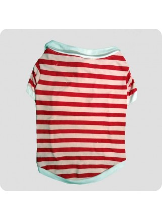 Polo t-shirt red/pink striped