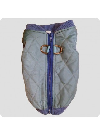 Quilted vest blue size M with flaws