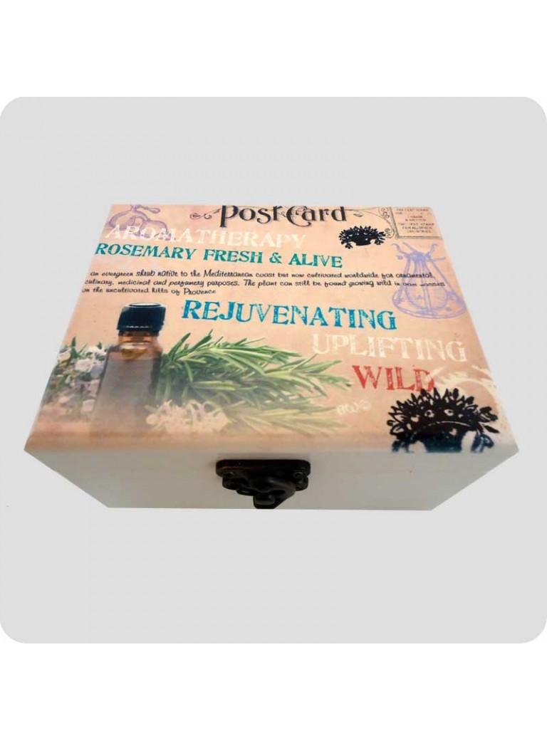 Wooden box rosemary for 12 bottles