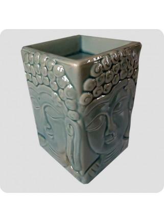 Aromalampe firkantet buddha grøn