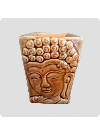 Aromalampe firkantet buddha brun