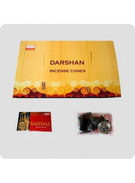 Darshan incense cones sandalwood
