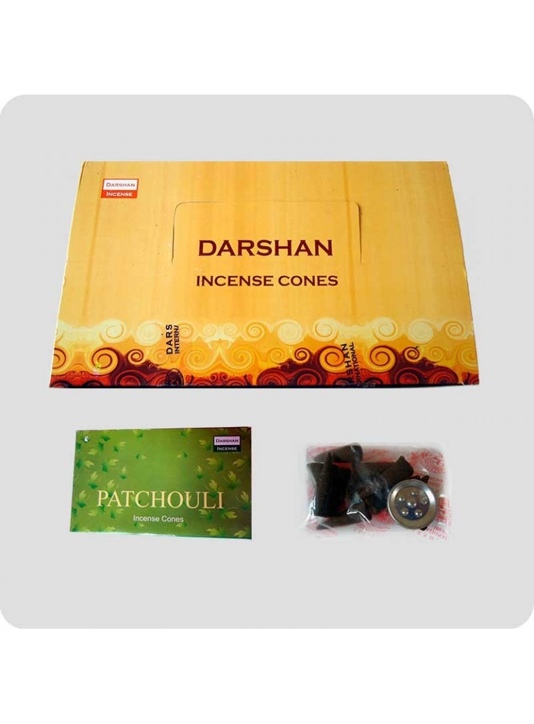 Darshan røgelsestoppe patchouli 12-pack