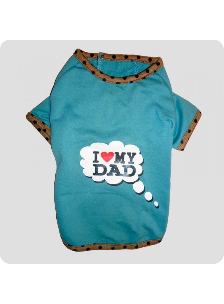 """T-shirt """"I love my dad"""" L"""