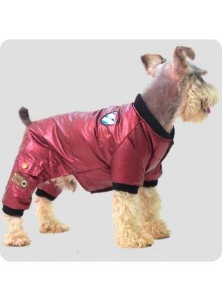 Metallic red suit 4-legs size L