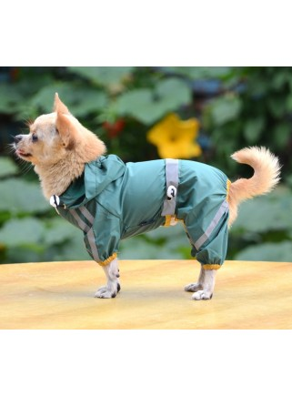 Green raincoat 4-legs size L