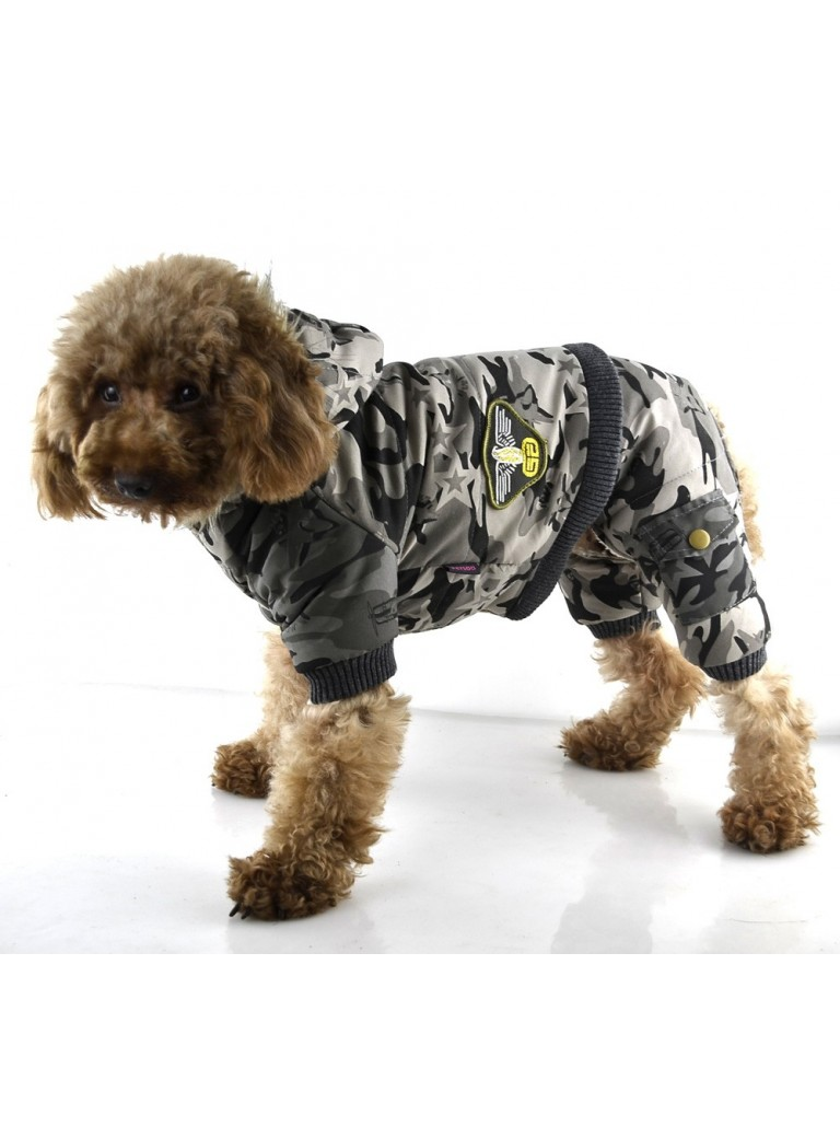 Camouflage suit with 4 legs L