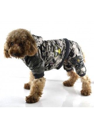 Camouflage suit with 4 legs M