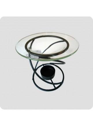 Aromalampe metal smal hvirvel