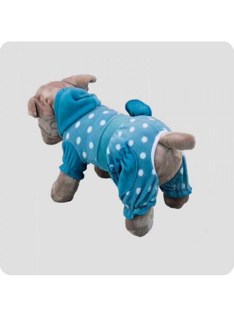 Jumpsuit blue with dots M