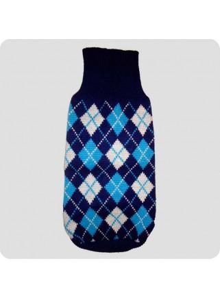 Sweater blå ternet L