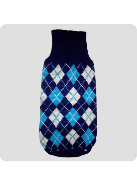 Sweater blue checquered M