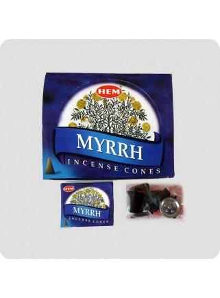 HEM incense cones Myrrh