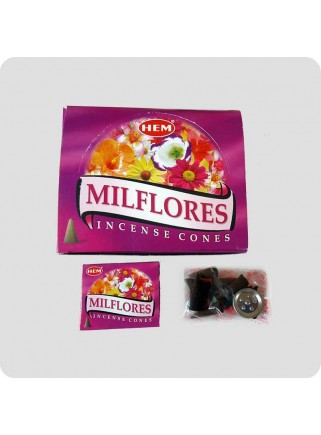 HEM incense cones 12-pack Milflores
