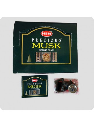 HEM incense cones Precious Musk