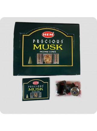 HEM incense cones 12-pack Precious Musk