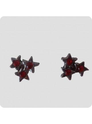 Ear studs 3 stars red