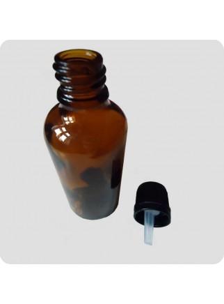 50 ml flaske med hætte og dråbetæller