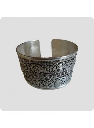 Wide filigree tibetan bracelet