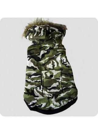 Camouflagejakke grøn 2 ben str. L