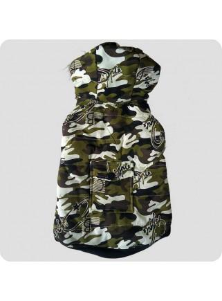 Camouflagejakke m/skrift 2 ben str. L