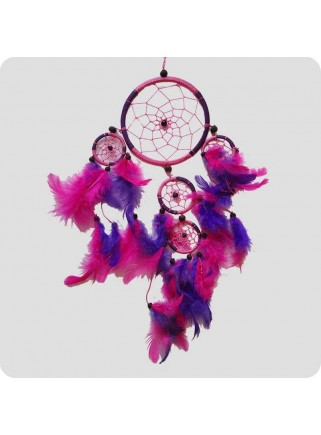Dreamcatcher 22 cm pink and purple