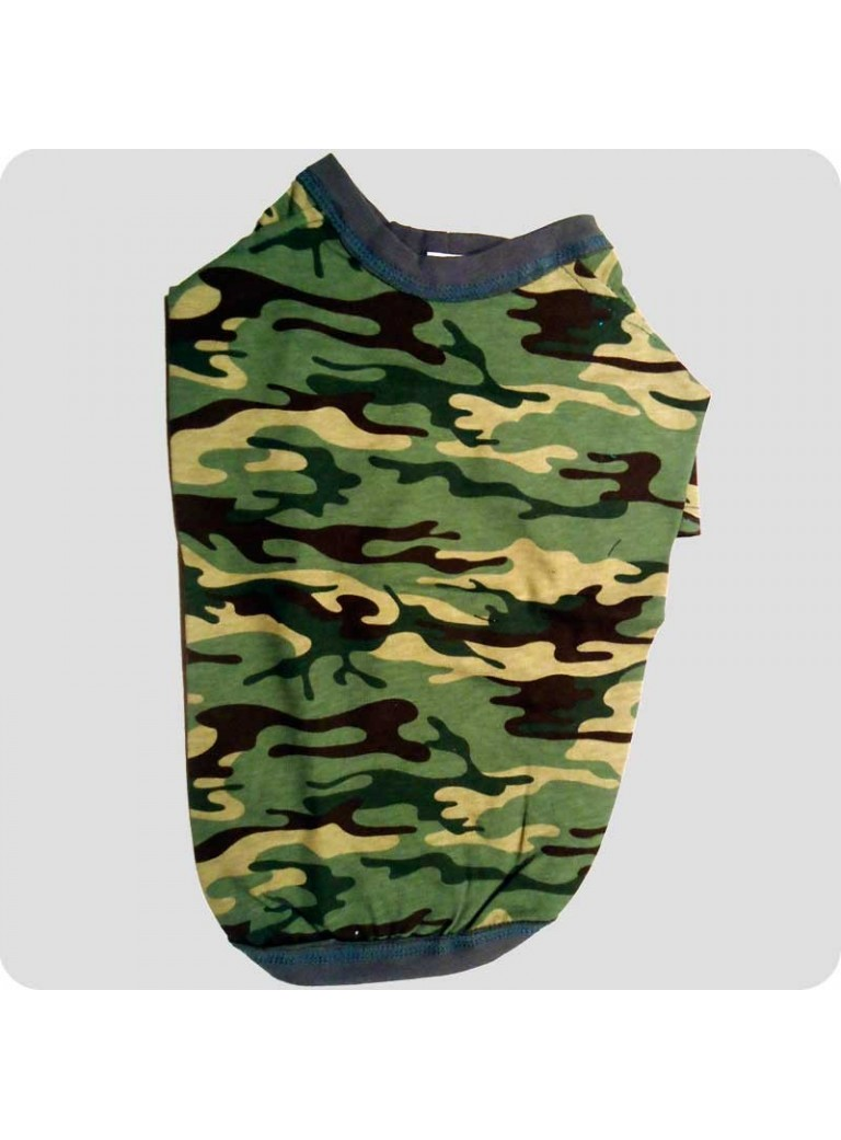 Camouflage t-shirt grøn