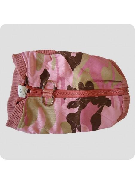 Vatteret vest camouflage pink str. XL
