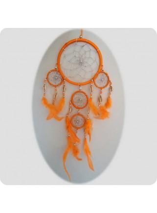 Drømmefanger 12 cm orange m/sølvtråd