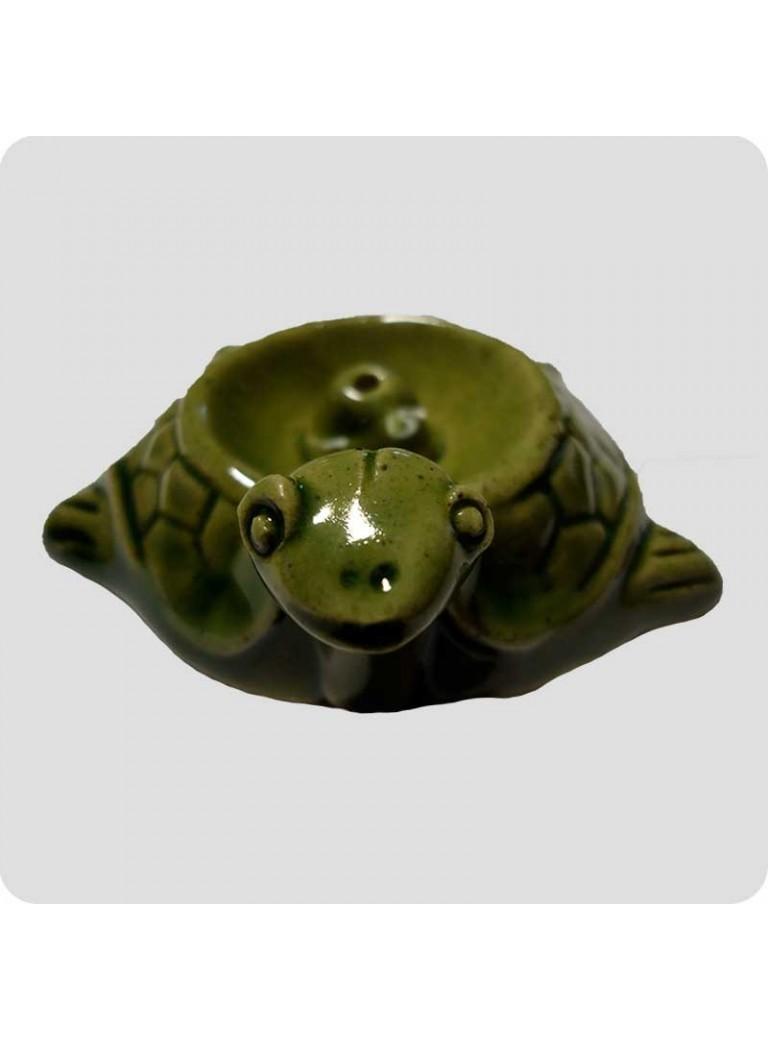 Røgelsesholder grøn skildpadde