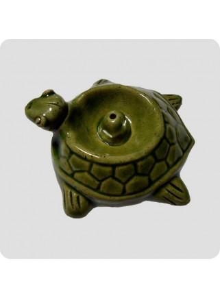 Incenseholder green turtle