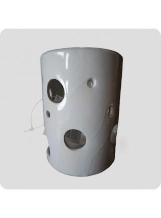 Aromalampe hvid keramik cylinder