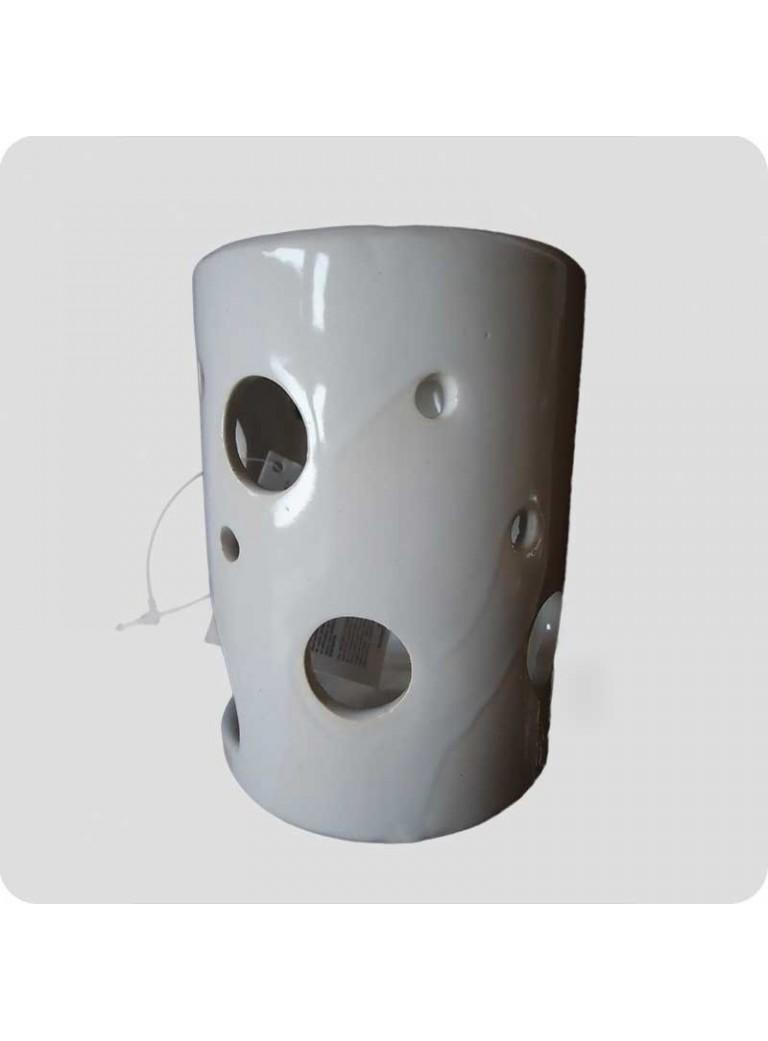 Oil burner white ceramics cylinder