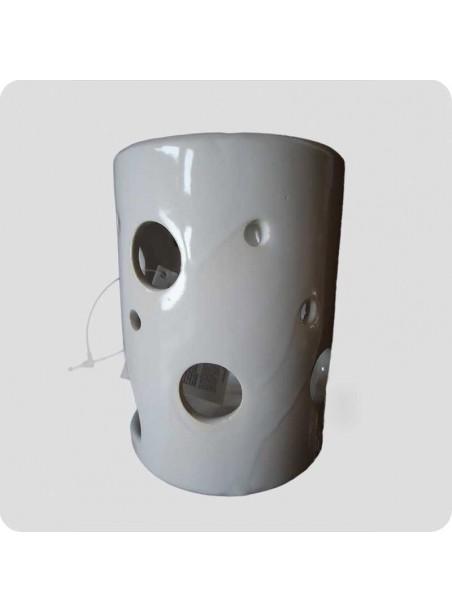 Aromalampe hvid keramik cylinder  med fejl