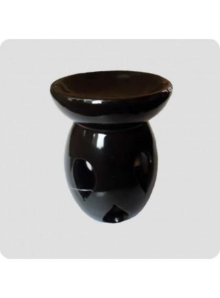 Aromalampe 3 dråber sort keramik med fejl
