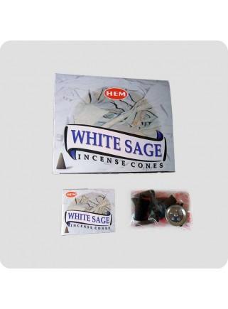 HEM røgelsestoppe Hvid salvie