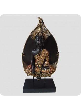 Buddha på blad 27 cm