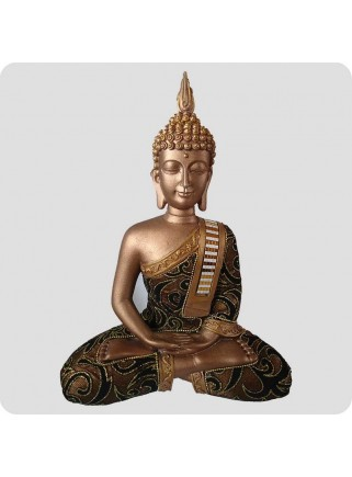Buddha hands down 29 cm brown and gold