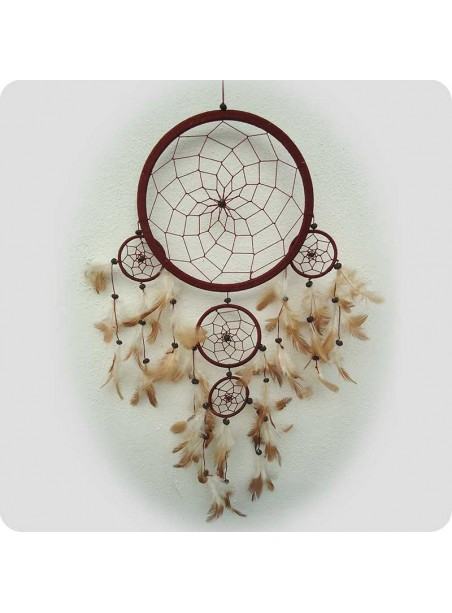 Dreamcatcher 22 cm brown with flaws