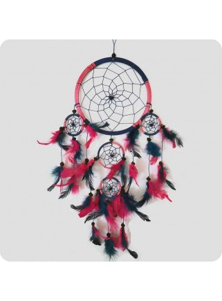Dreamcatcher 22 cm blue and light red