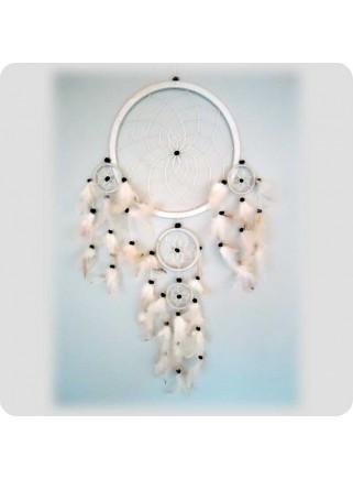 Drømmefanger 22 cm hvid/hvide fjer