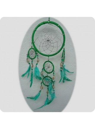 Drømmefanger 12 cm grøn m/sølvtråd